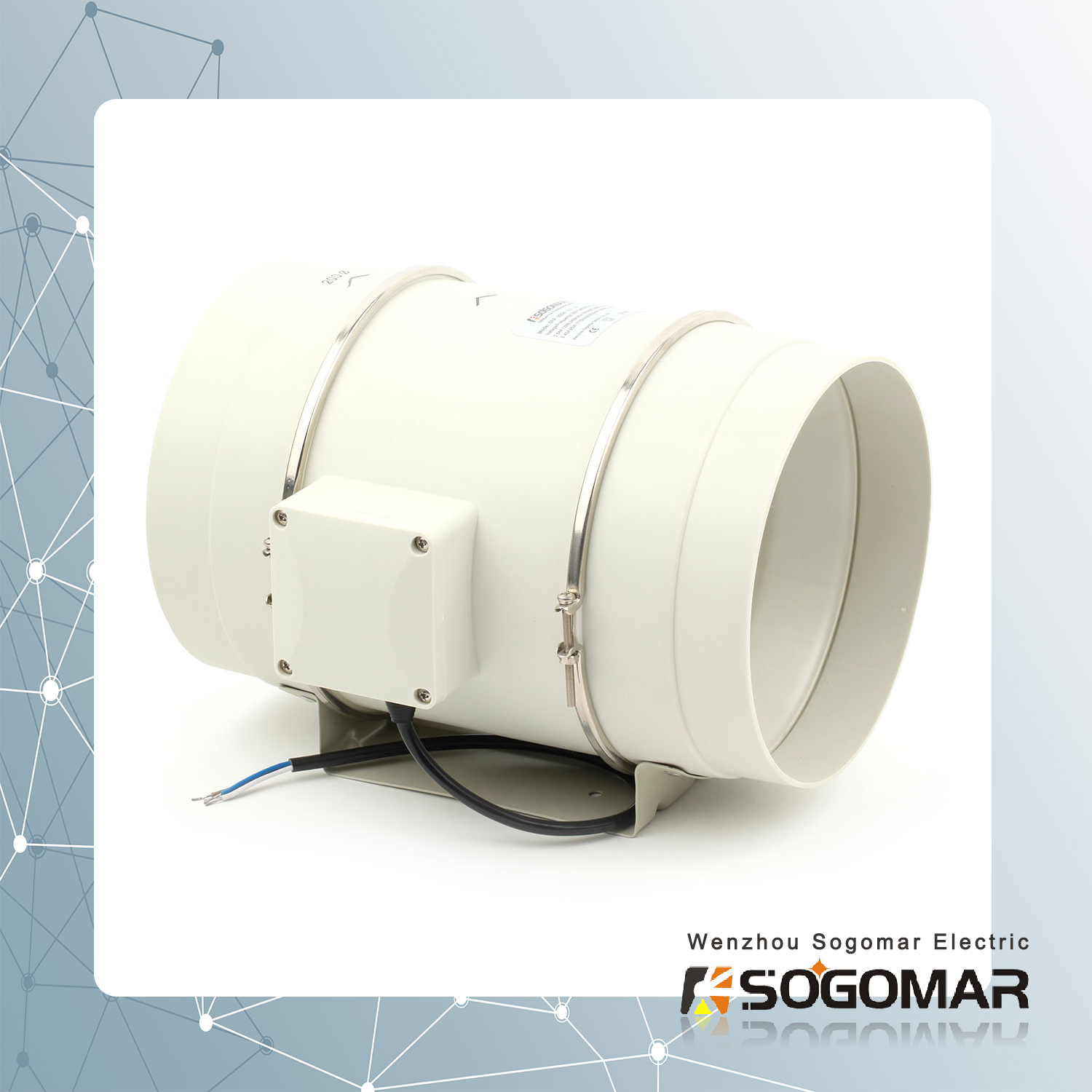 Ventilation Multi-Speed Circulation Duct Pipe Exhaust Fan (SFP-200)