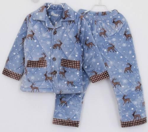 children's coral fleece cotton winter pajamas