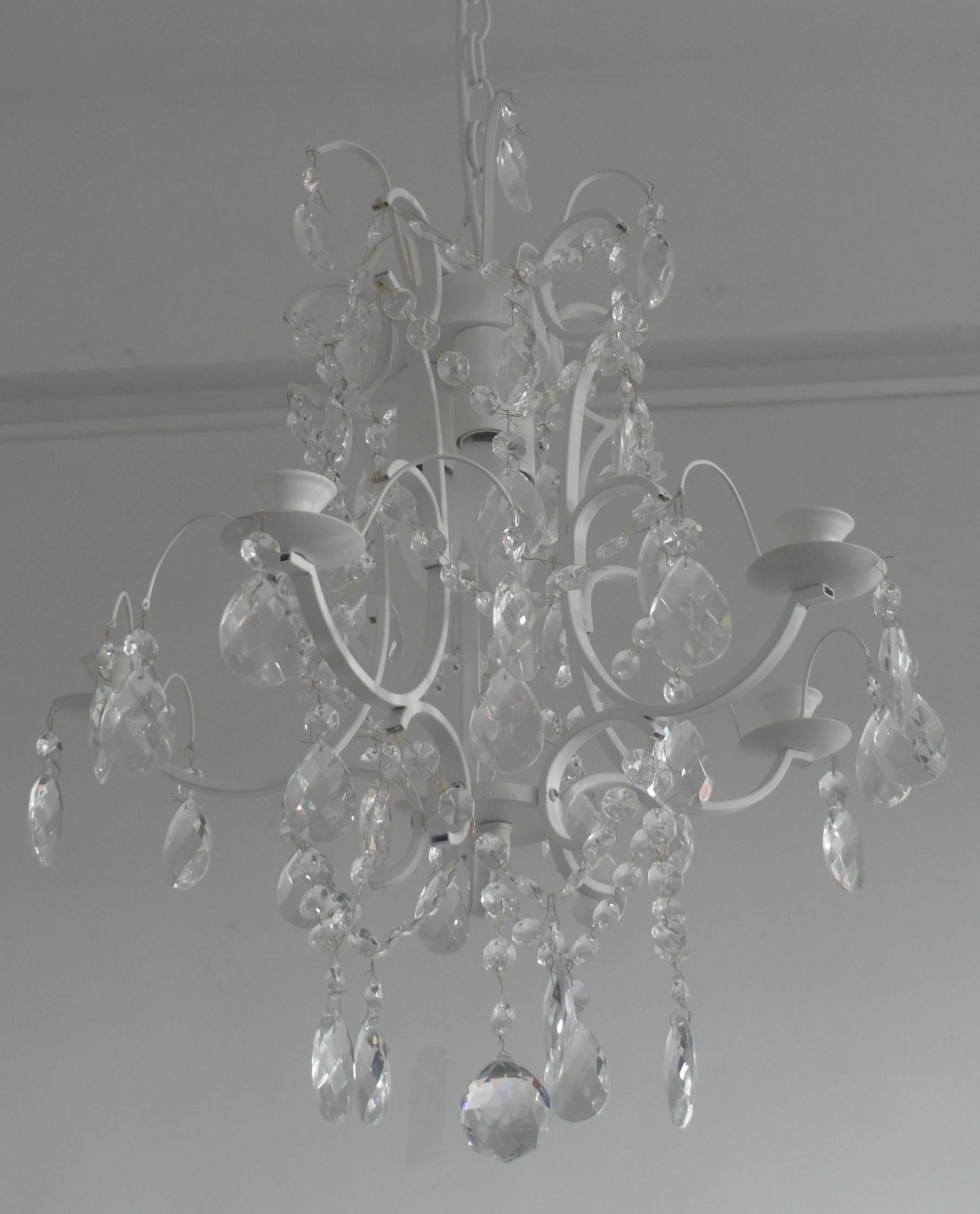 matt white crystalchandeliers/chandeliers/crystal chandelier/5 lights chandeliers
