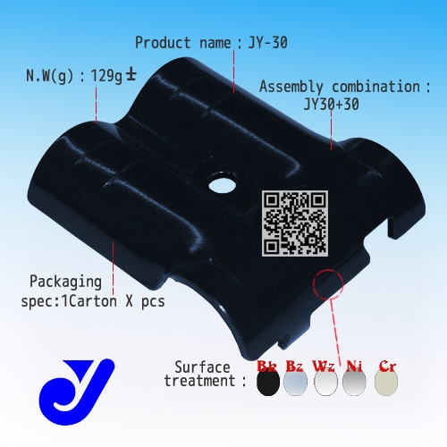 JY-30|double T-junction|lean tube connector|metal clamp head