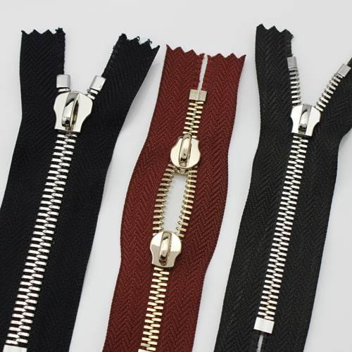 double-dot teeth metal zipper standard