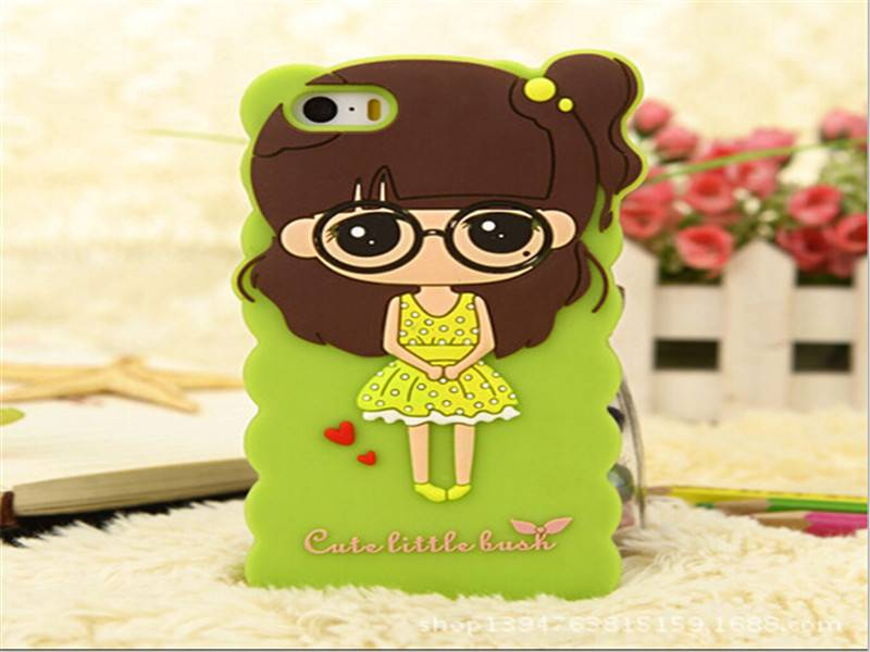 cartoon character custom Silicone mobile phone case /cheap 3D silicone phone cover