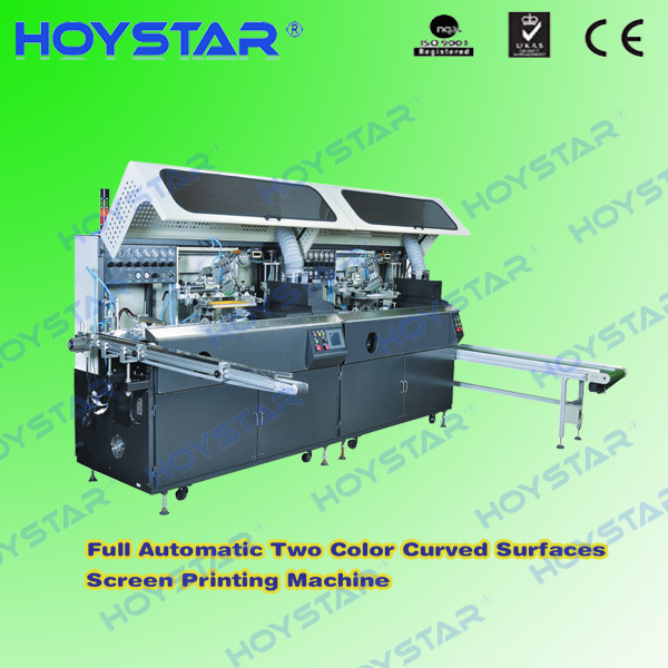2 color automatic curved screen printer