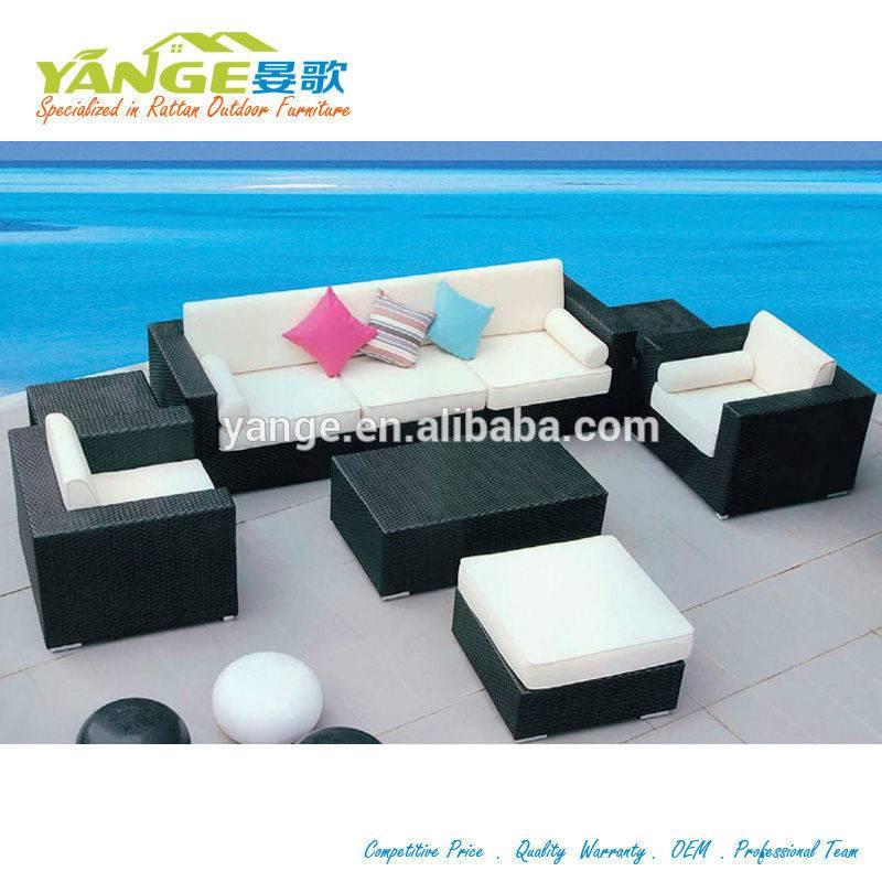 Waterproof rattan outdoor furniture patio wicker sofa set