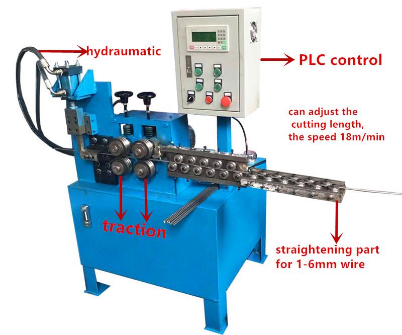 1-6mm wire straightening and cutting machine