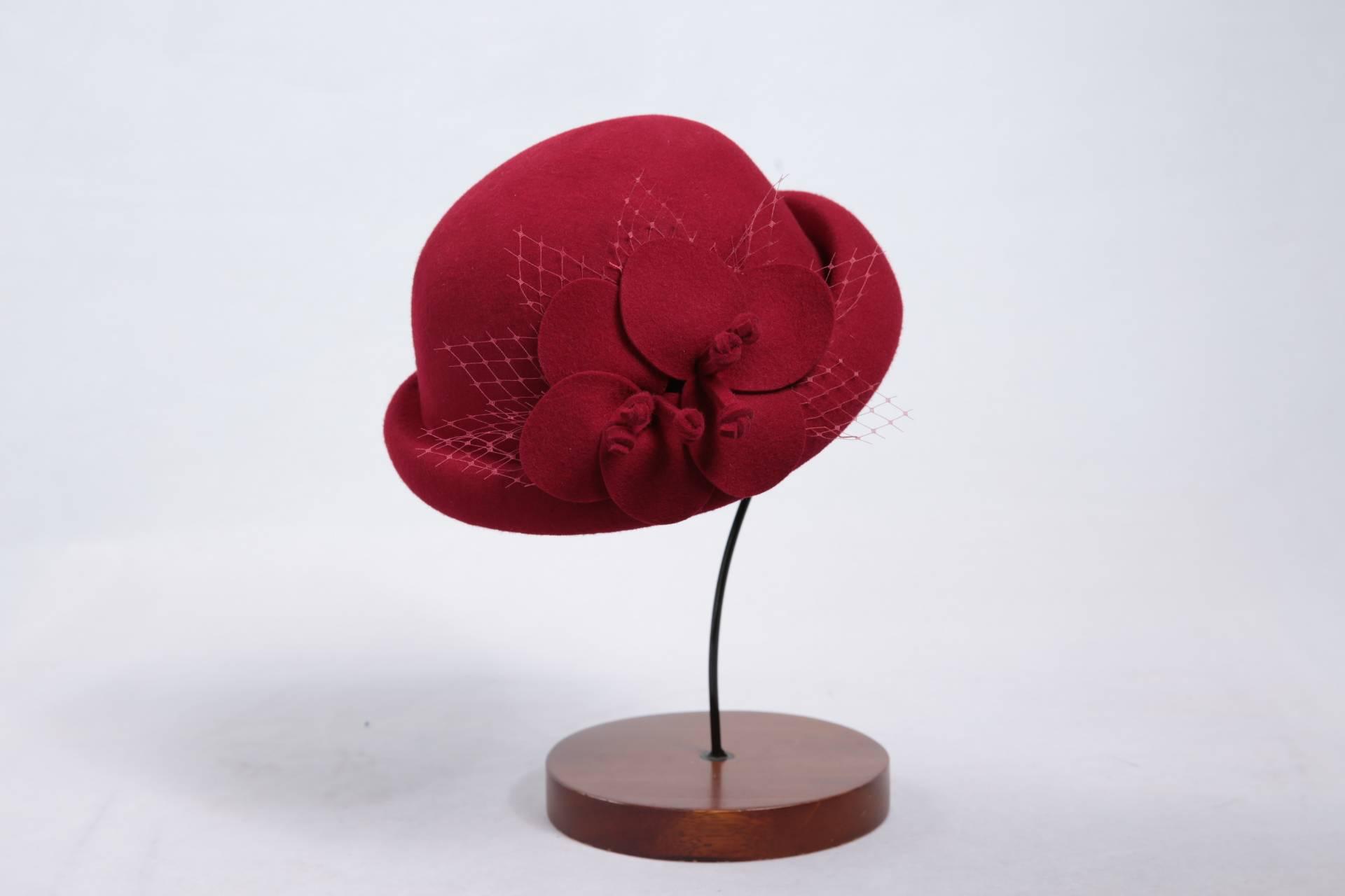 Wool Felt Bucket Hat For Woman (FW077015)