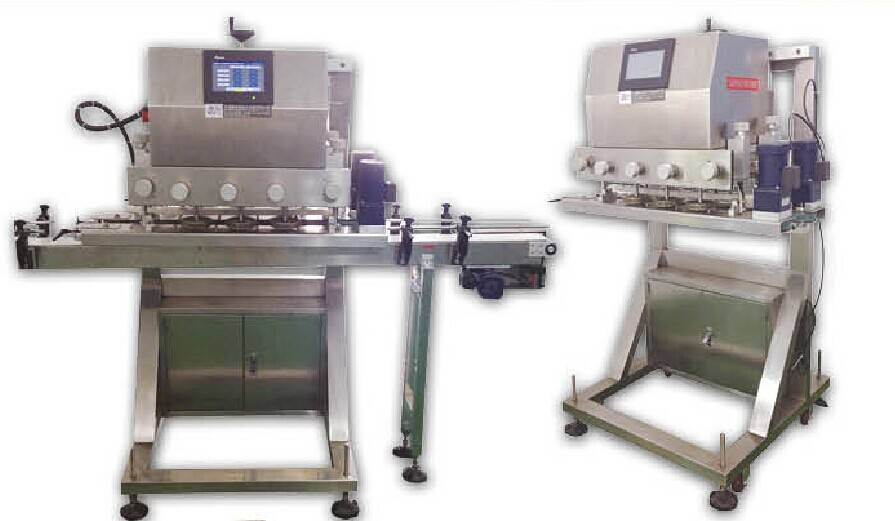 Automatic caps feeding machine+automatic linear type spindle capping machine