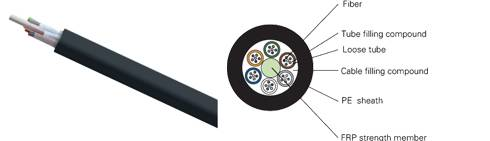 stranded loose tube non-metallic strength member non-armored  optical fiber cable