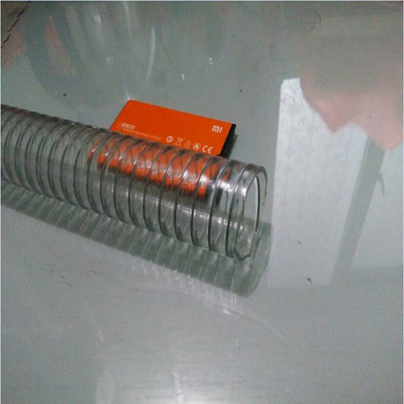 Conveying water oil and power steel pvc hose