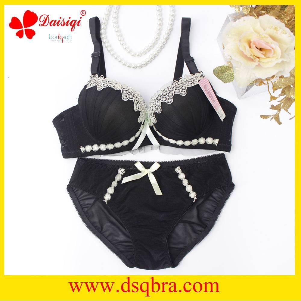 2016 new style lace bra ladies sexy bra and panty set