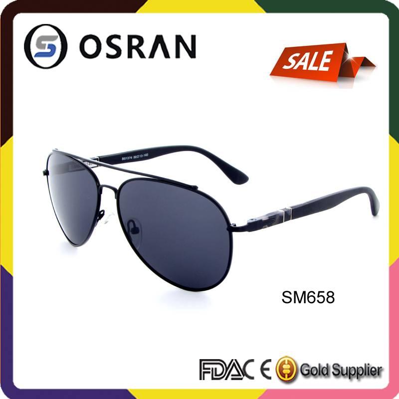Logo Print Sunglasses Stainless Steel Custom Made Aviator Sunglasses