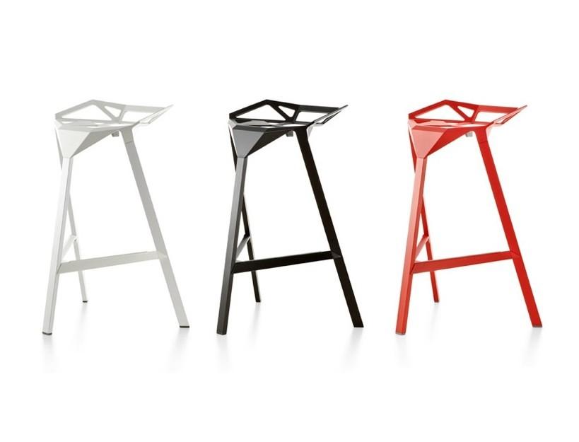 Novel Design Magis Bar StoolAluminum Stackable Metal Bar Stool Industrial