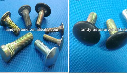 Black oxide carriage bolts