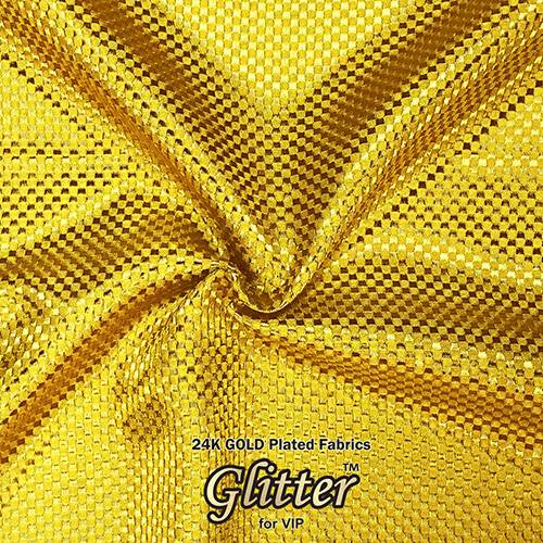 24K Gold  Plated Fabric with Nanocoating - Emboss Texture G-EM01
