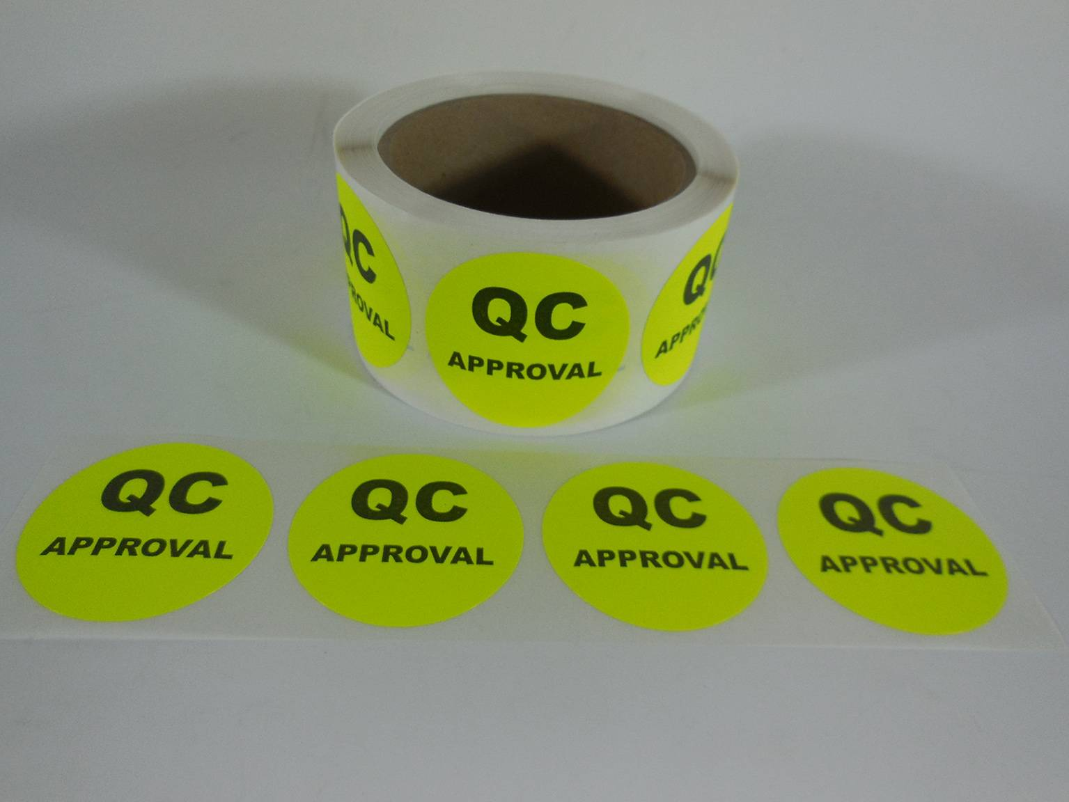 Fluorescent Adhesive Label