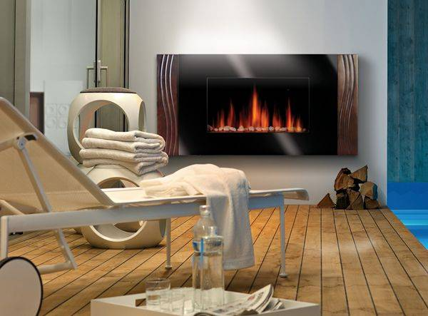 Linear Glass Electric Fireplace