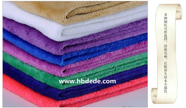 soft colorful bsth towel water-absorbing quality