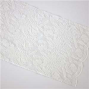 Different design accept custom mesh flower lace elegant net fabric embroidery