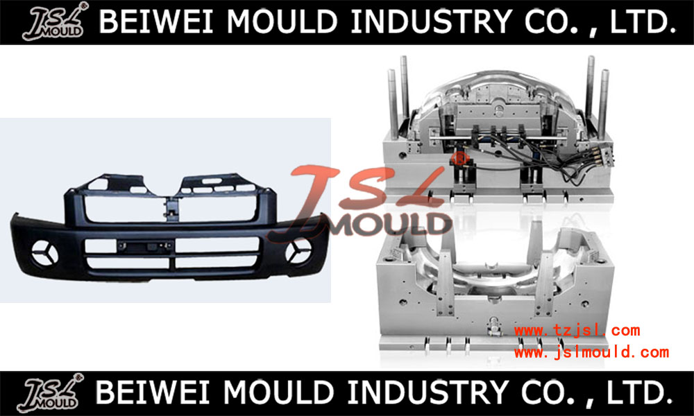 Easy demoulding design vehicle front bumper mold of plastic injection