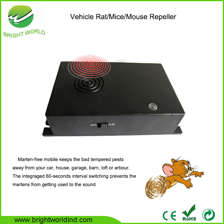 Auto Rodent Repellent Vehicle Ultrasonic Mouse Mice Rat Repeller