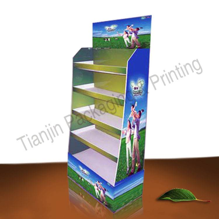 Corrugated paper display; floor display; cardboard display
