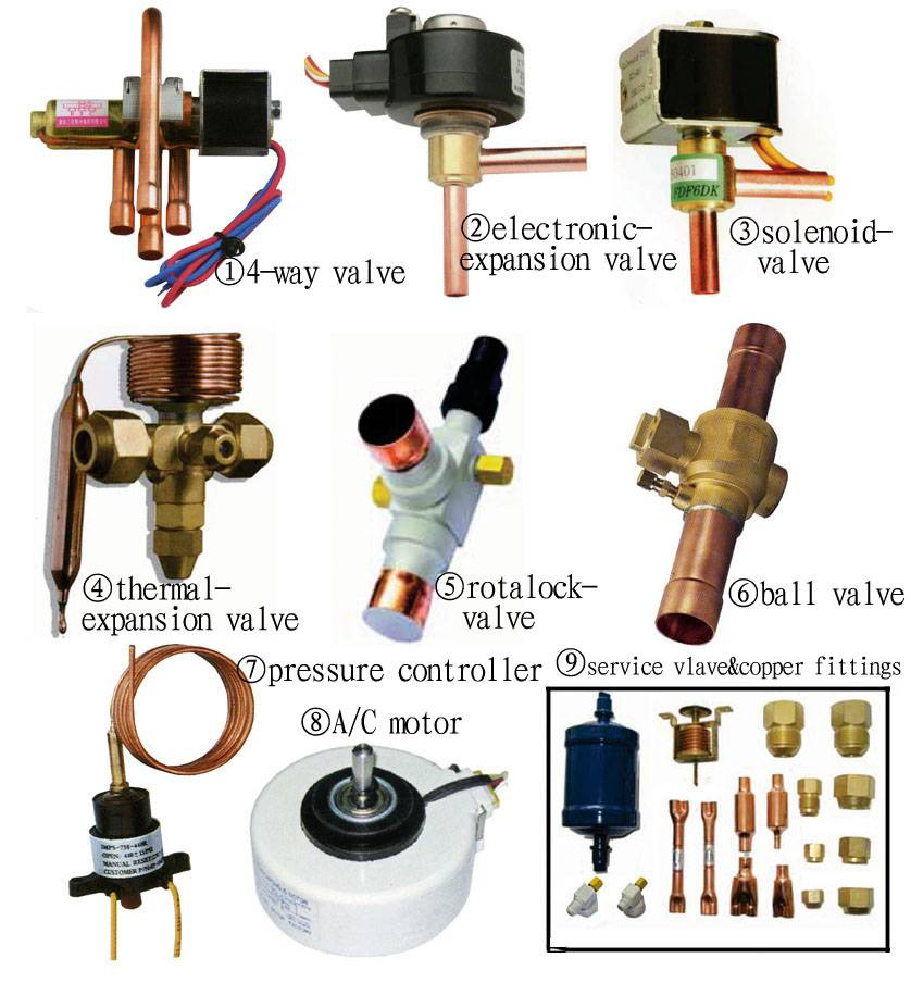 A/C&refrigeration spare parts