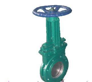 knife gate valve, bolted gland, cast or ductile iron valve, metal seal, brass bronze seal,