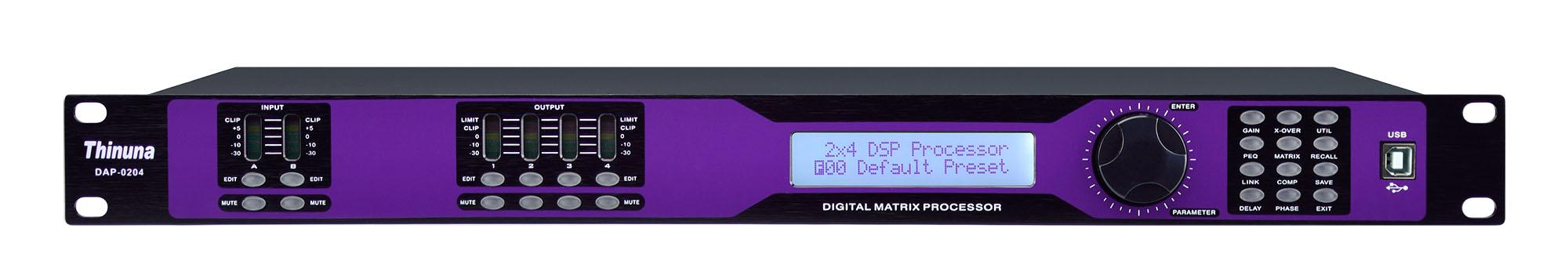 DAP-0408 Four input Eight output Audio processor