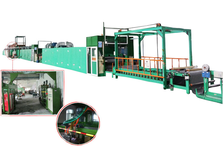 PU eco-friendly non-solvent leather machine line