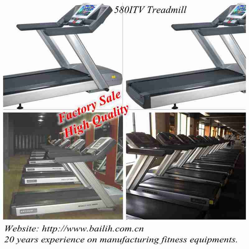 Bailih Cardio Equipments Commercial Treadmill 580I Gym equipments with Touch Screen and TV