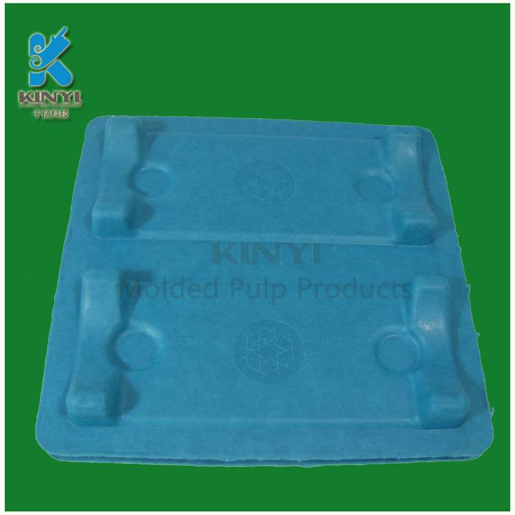 Electronic colored paper pulp packaging tray, eco-friendly