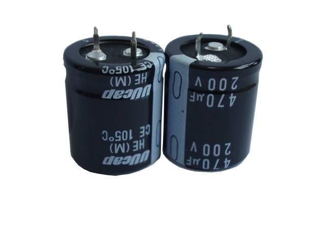 UUcap 200V 470UF Snap-in Aluminum Electrolytic Capacitor 3000hrs