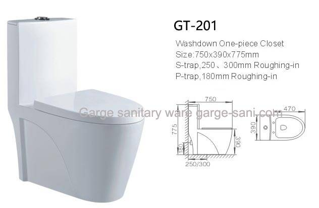 bathroom toilets one piece toilet WC