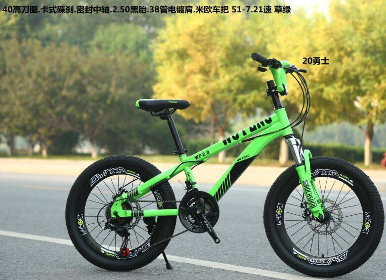 seal axle green color 2.5 tire mtb bike