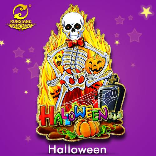 Wholesale Paper Skull Skeleton with Fire for Halloween Decoration Sticker