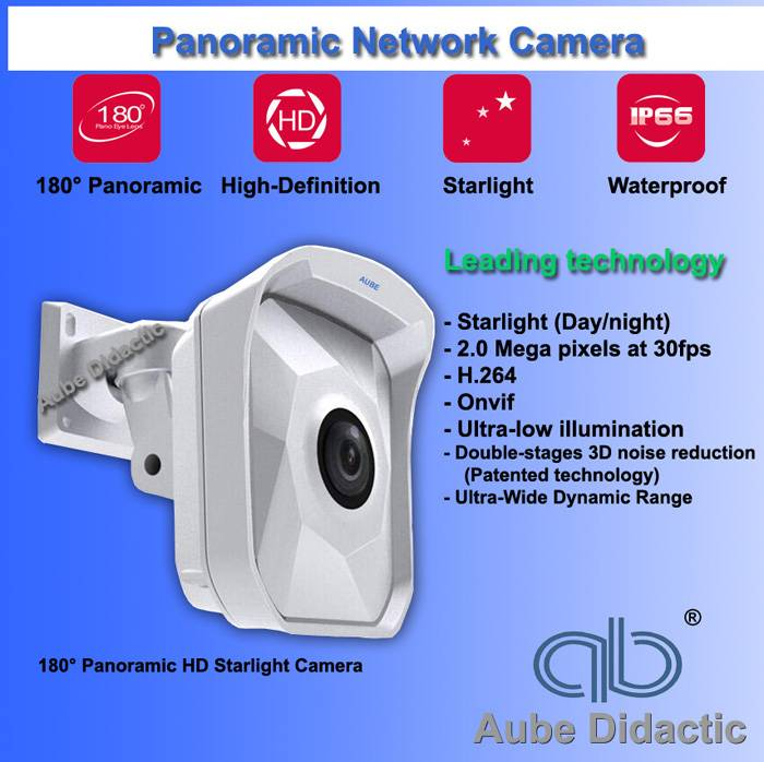 Panoramic IP Camera for CCTV with staring