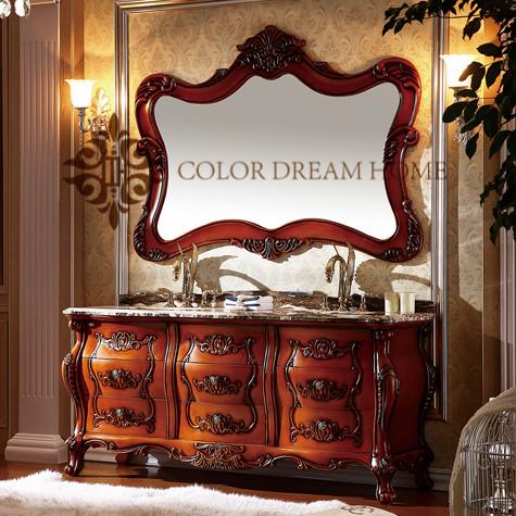 2017 New arrival european bathroom vanity, antique bathroom furniture, bathroom cabinet
