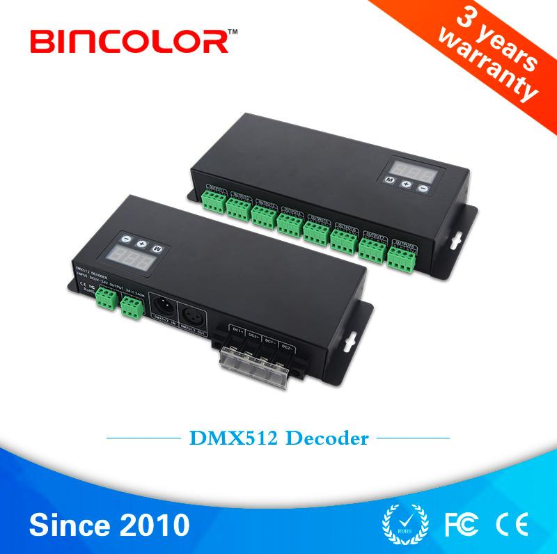BC-824 DC12V 24V dmx512 led power decoder 1990 24 channel dmx dimmer controller