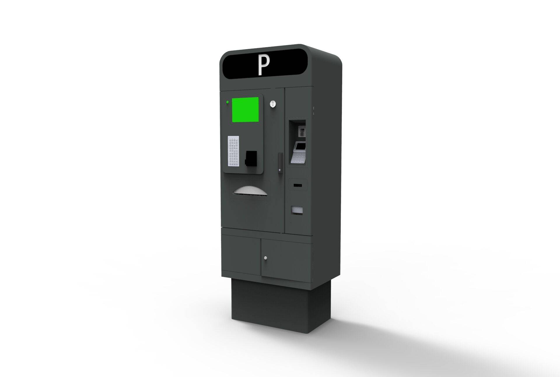 pay on foot barcode reader parking pay station with full function