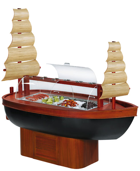 Customized boat type buffet display