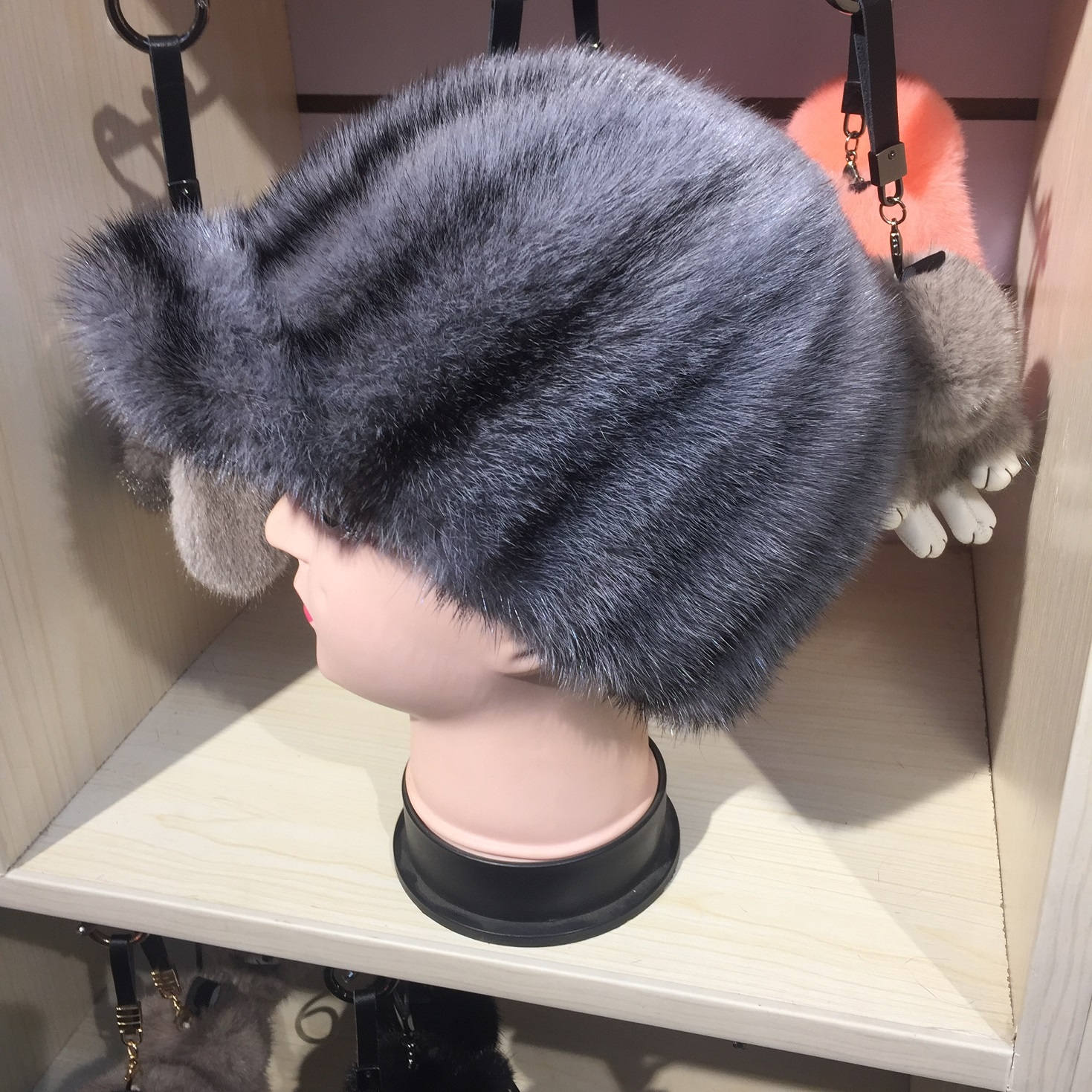 Fashion Style Colorful Mink Fur Hat