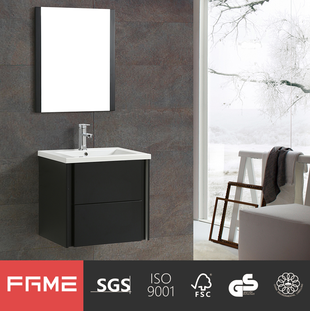 FaMe European morden High Gloss Painting Bathroom Mirror Cabinet with DTC Soft Closing drawers