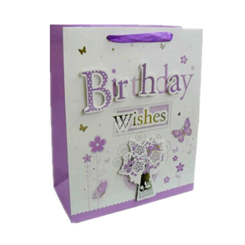 Brithday gift paper bag wishes paper bag