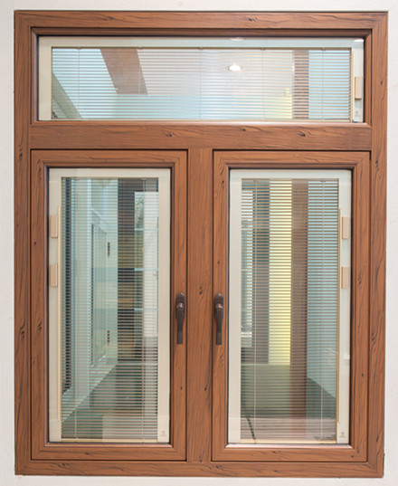 Thermal break aluminium window open outwards casement window
