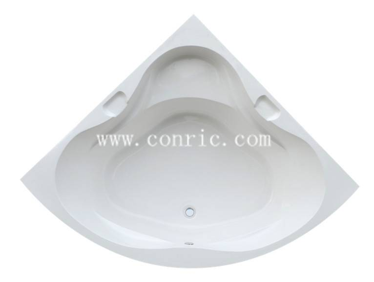 Sector insert bathtub with seat