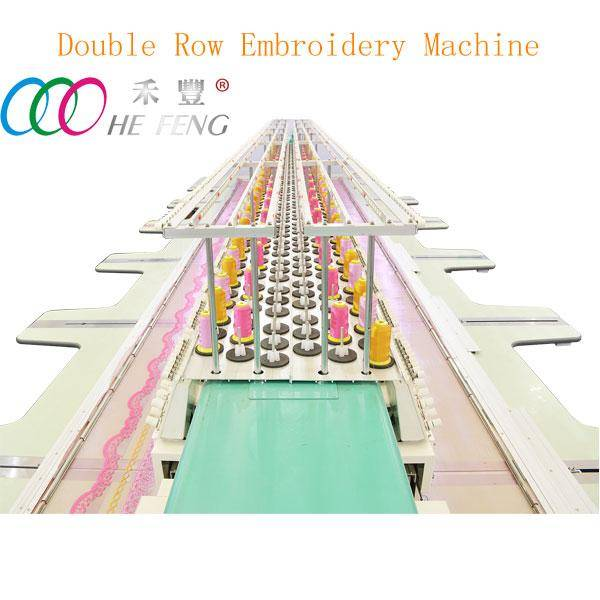Double rows high speed computerized flat embroidery machine