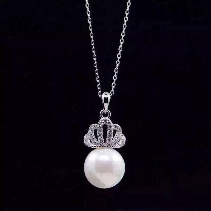 NEFFLY high Quality 925 Sterling Silver Necklace pearl dignity elegance necklace pendant 10pcs/lot F