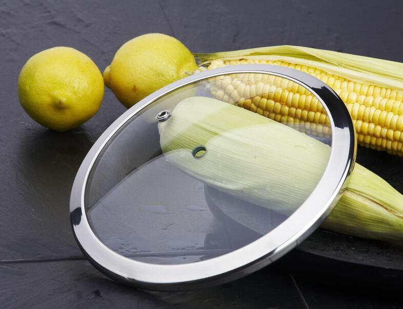 C type tempered glass lid for cookware