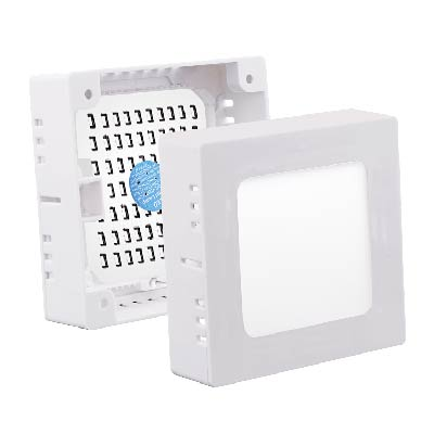 Surface ABS+Aluminum Led panel light Square isolated driver 2 years warranty 6w12w18w24w