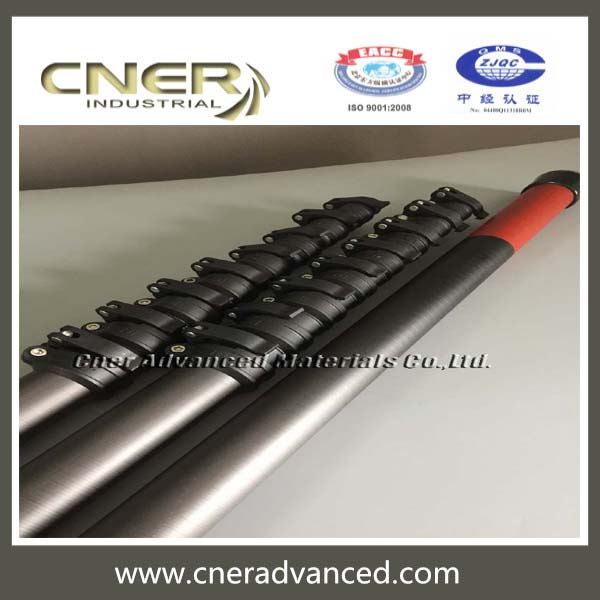 High modular 60ft Carbon fiber water fed telescopic pole with patent clamps